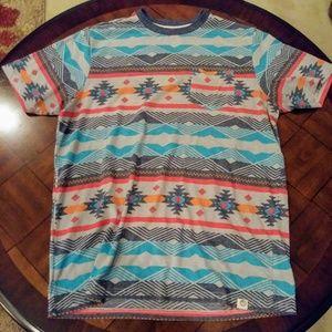 Free Planet Aztec Print T-Shirt
